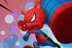 Spider Ham Arts Wallpaper