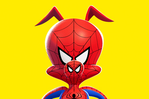 Spider Ham In SpiderMan Into The Spider Verse Movie Poster 5k Wallpaper
