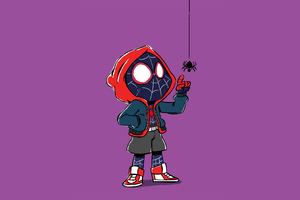 Spider Kid Miles Morales Art