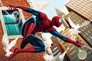Spider Man 2020 Artwork Birds