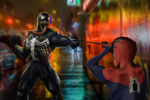 Spider Man And Venomart Wallpaper