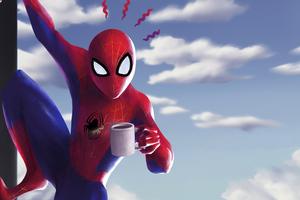 Spider Man Coffee Wallpaper