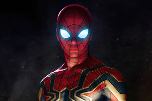 Spider Man Eyes Glowing Wallpaper