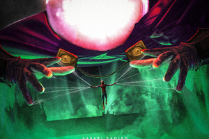 Spider Man Far From Home And Mysterio Art Wallpaper