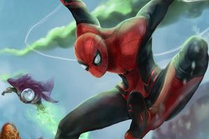 Spider Man Far From Home Fan Art 4k