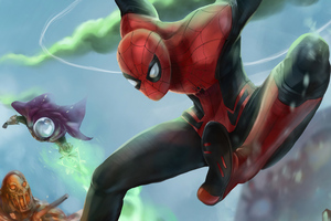 Spider Man Farfrom Home Artwork Wallpaper