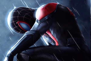 Spider Man In Rain 4k