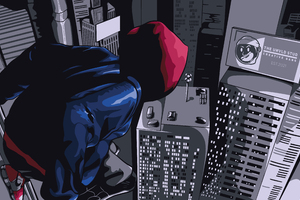 Spider Man Into The Spider Verse Black Spidey 5k Wallpaper