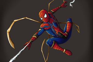 Spider Man Iron Suit 4k