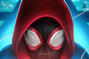 Spider Man Mask Closeup