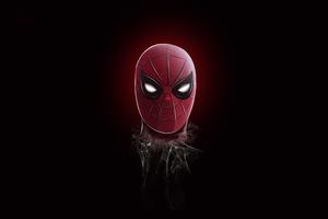 Spider Man Mask Minimalism 5k Wallpaper