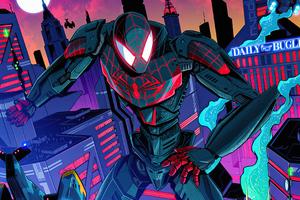 Spider Man Mecha Miles Morales 4k