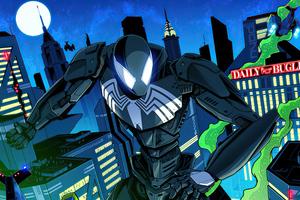Spider Man Mecha Symbiote Suit 5k