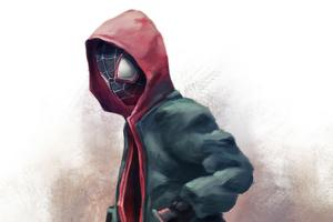 Spider Man Miles Hoodie 4k