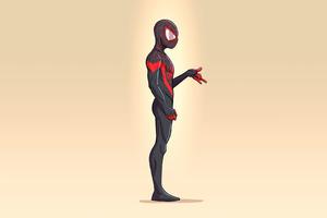 Spider Man Miles Minimalism 4k