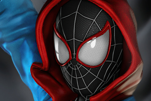 Spider Man Miles Morales Costume 4k Wallpaper