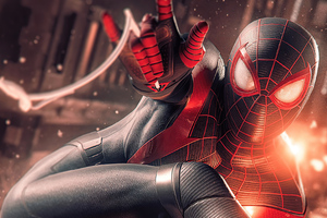 Spider Man Miles Morales Digital Art 4k