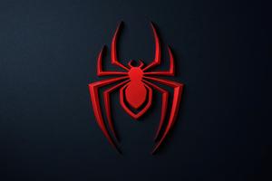 Spider Man Miles Morales Logo 4k