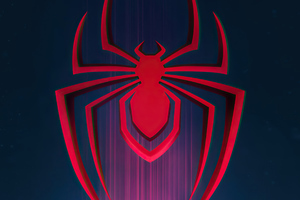 Spider Man Miles Morales Logo Wallpaper