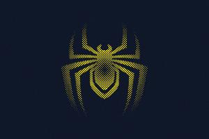 Spider Man Miles Morales Logo Minimal 4k Wallpaper