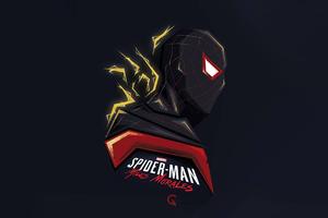 Spider Man Miles Morales Minimal Art 4k Wallpaper