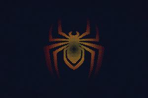 Spider Man Miles Morales Minimal Logo 4k Wallpaper