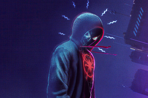 Spider Man Miles Morales Noise Wallpaper