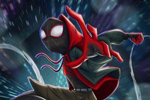 Spider Man On Art 4k Wallpaper
