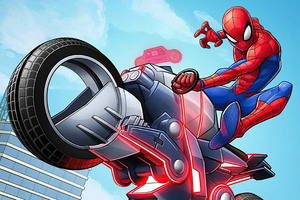 Spider Man On Bike