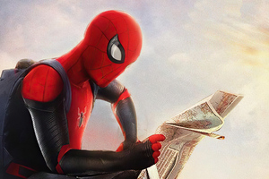 Spider Man Reading New Paper Wallpaper