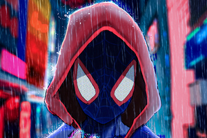 Spider Man Red Hoodie Wallpaper