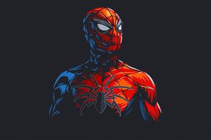 Spider Man Red Minimalism Wallpaper