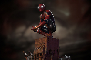 Spider Man Sitting Down