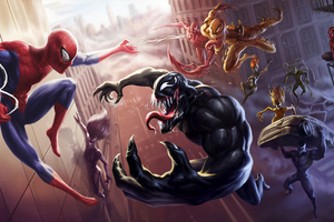 Spider Man Unlimited Venom Carnage 4k Wallpaper