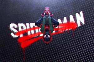 Spider Man Up Side Down