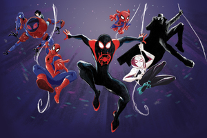 Spider Man Verse Heroes 5k Wallpaper