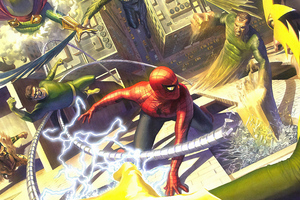 Spider Man Vs Sinister Six 4k Wallpaper