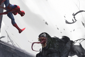 Spider Man Vs Venom 4k Wallpaper