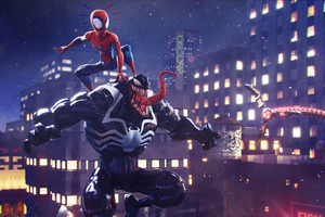 Spider Man Vs Venom Artwork Wallpaper