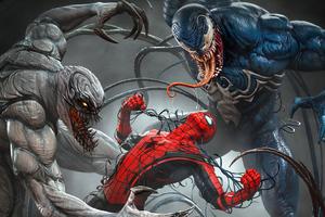 Spider Man Vs Venomized Wallpaper