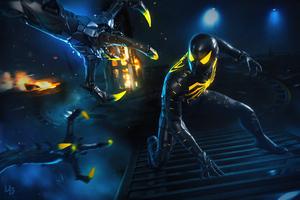 Spider Mans Anti Ock Suit 8k Wallpaper