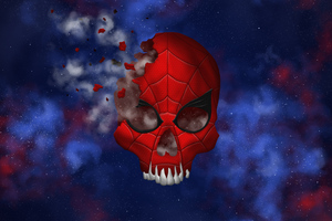 Spider Skull Illustration Wallpaper