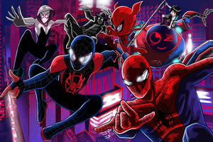 Spider Verse Artwork Wallpaper