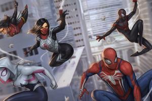 Spider Verse Gang Heroes