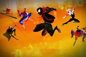 Spider Verse Jumping4k Wallpaper