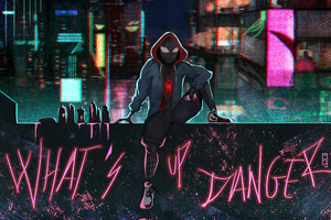 Spider Verse What Up Danger Wallpaper