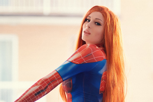 Spidergirl Cosplay 4k Wallpaper