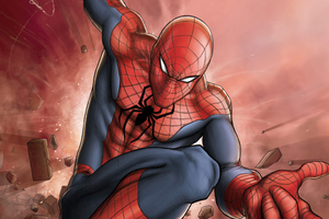 Spiderman 4k Comic Art