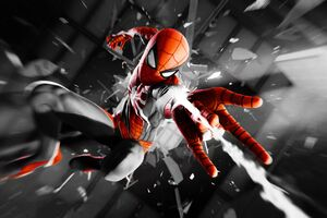 Spiderman 4k Monochrome