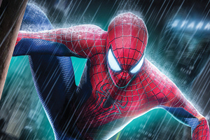 Spiderman 4k Rain